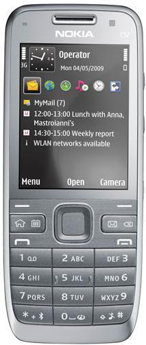 Nokia E52 silver