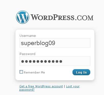 wordpress logare