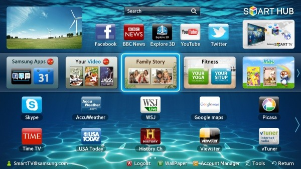 Samsung TV Smart Hub