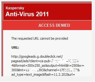 Kaspersky a blocat reclamele AdSense