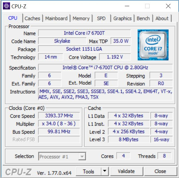 CPUZ - ASUS Zen AiO Pro Z240IC
