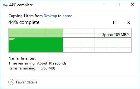 Test viteză upload QNAP TS431+