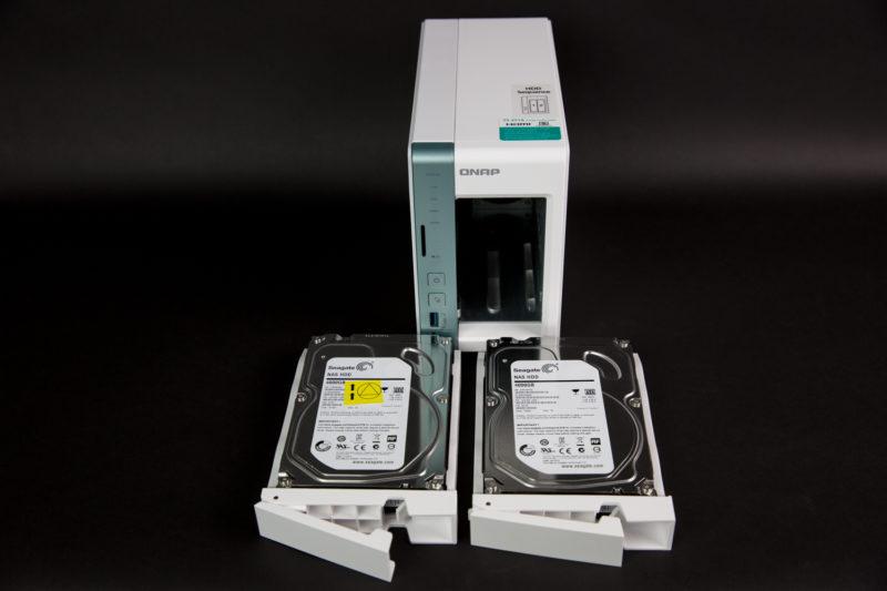 QNAP TS-251A hard diskuri