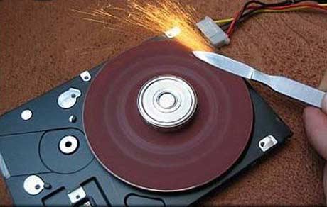 disc abraziv pe harddisk