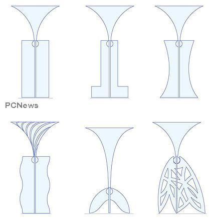 Picioare de pahare interschimbabile