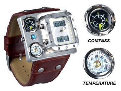 Ceas cu busolă şi termometru