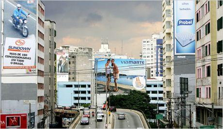 Reclamele outdoor interzise in São Paulo