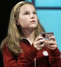Morgan Pozgar de 13 ani concurs SMS