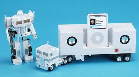 Transformer mp3 player robot