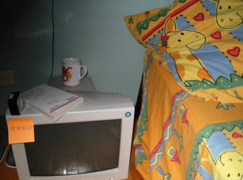 Monitorul pe post de noptiera
