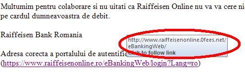 Notificare de securitate Raiffeisen Online