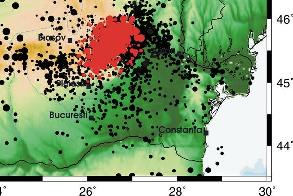 harta cutremure Romania