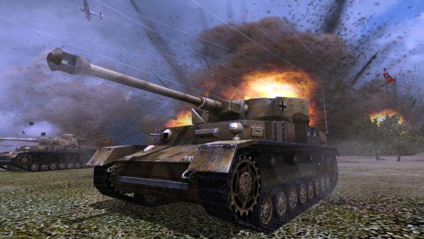 Order of War tanc avariat