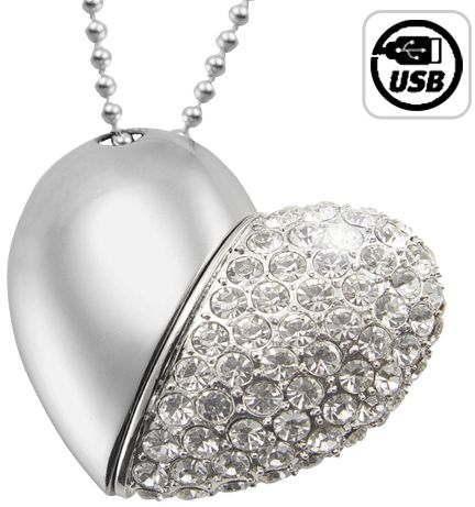 Jeweled Metal Heart