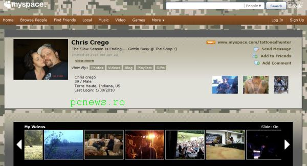 Christopher Keith Crego myspace