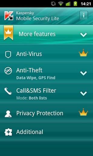 Kaspersky Mobile Security Lite
