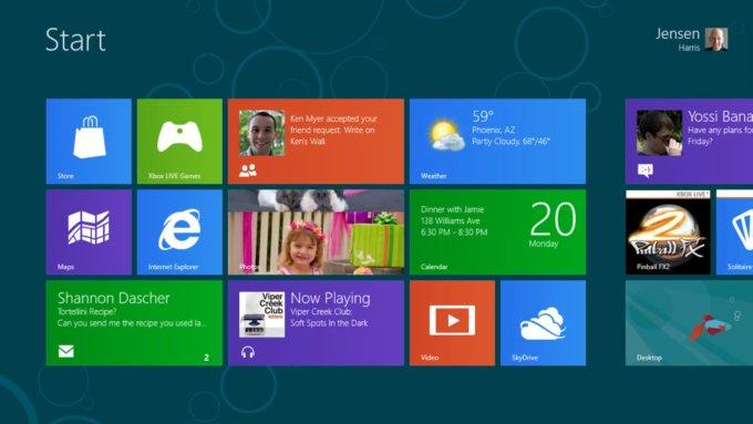 windows 8 interfata