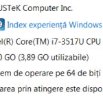 Asus Zenbook UX31A - Windows Index