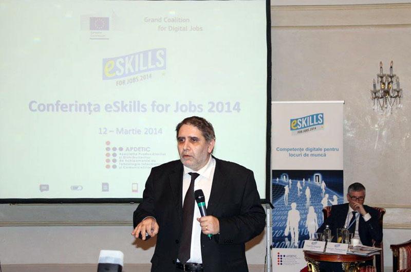 Varujan Pambuccian, Ambasadorul eSkills for jobs Romania 2014.