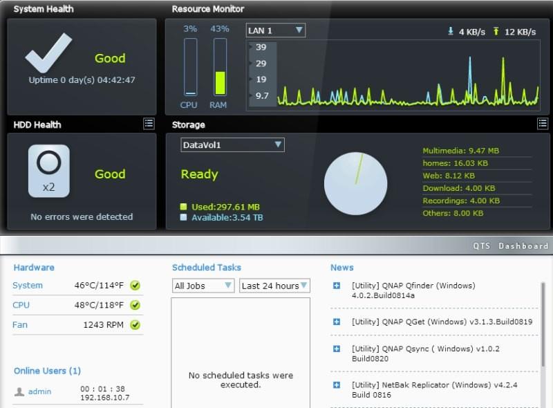 Monitorizare QNAP TS-269L
