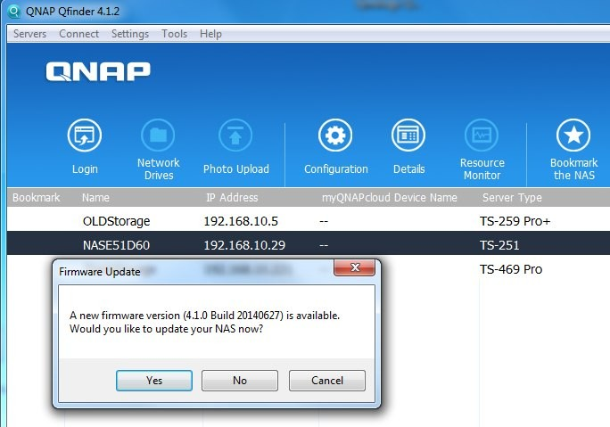 Update Firmware QNAP Turbo NAS TS-251