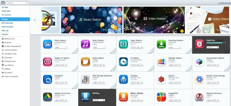 QNAP App Center