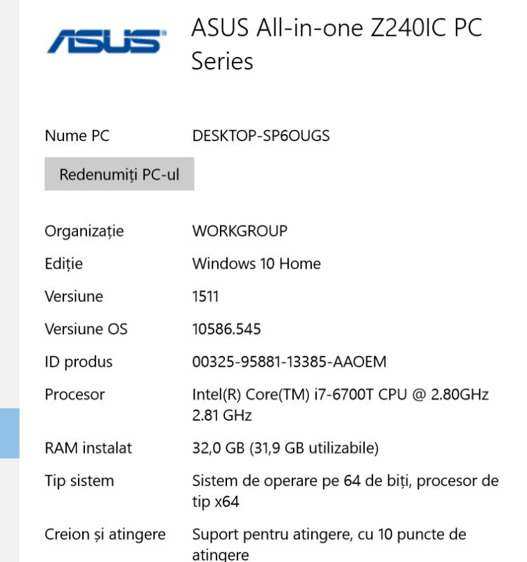 Descriere ASUS Zen AiO Pro Z240IC