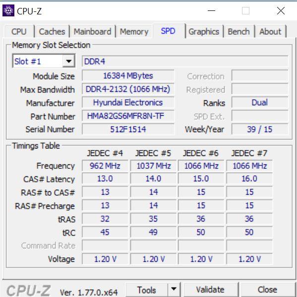 CPUZ- Latențe memorii