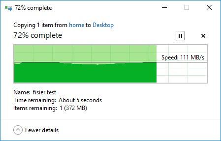 Test viteză download QNAP TS431+
