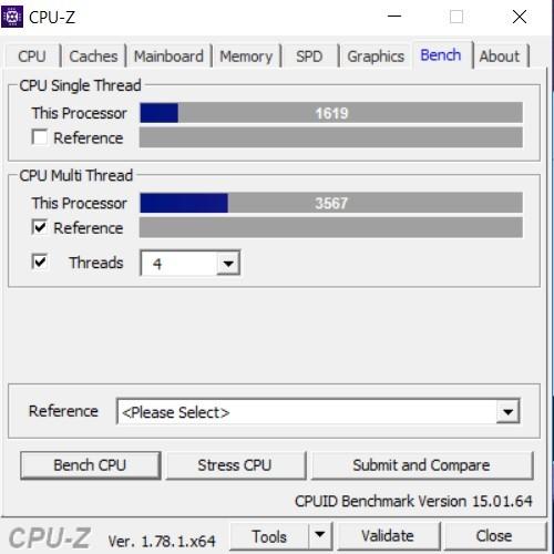 ASUS Zenbook 3 UX390 CPUZ bench