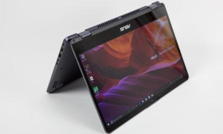 ASUS VivoBook Flip 14 TP401 în modul cort