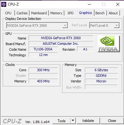 CPUZ pe sistemul TUF Gaming