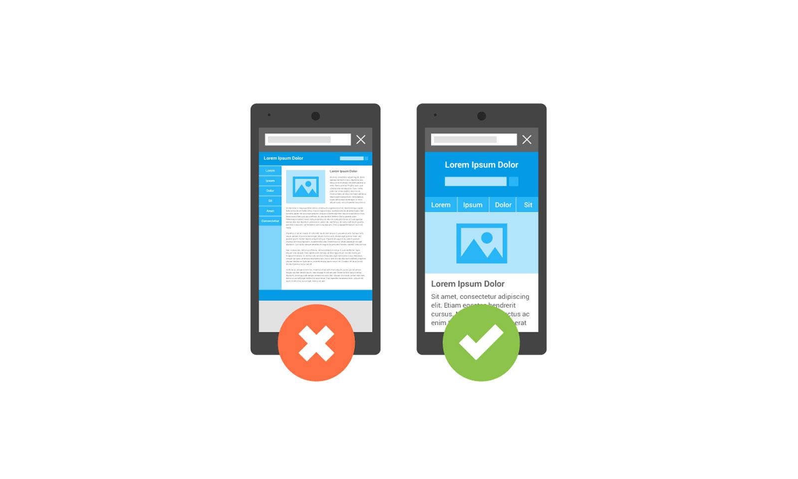 Siteurile vor fi validate pentru aspectul pe mobil