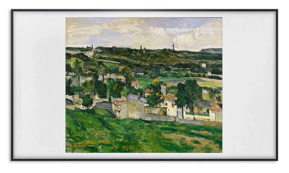 Vedere spre Auvers-sur-Oise - Paul Cezanne
