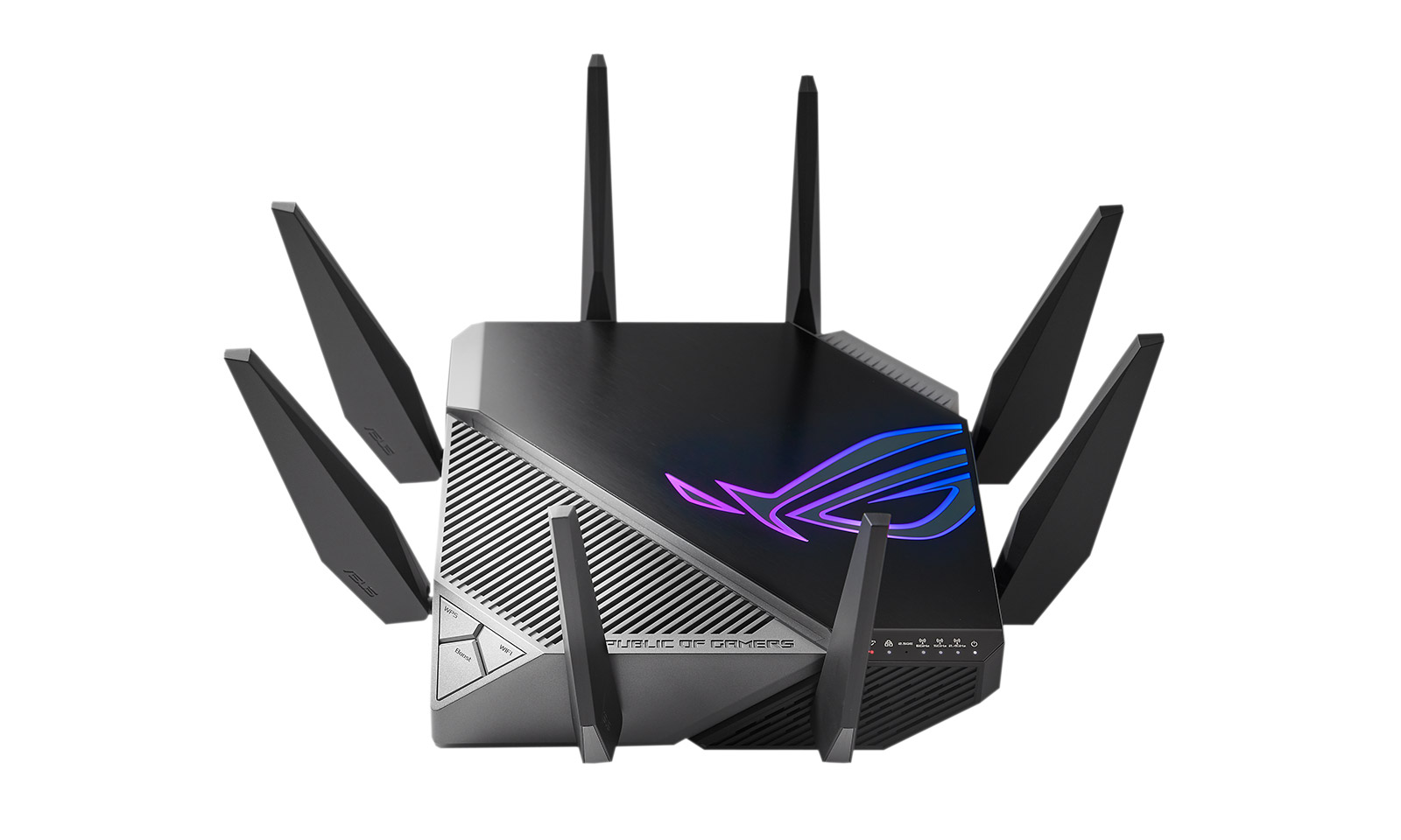 Rapture GT-AXE11000, router WiFi 6e cu 8 antene