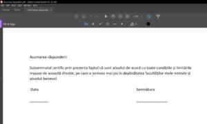 Semnarea documentelor PDF