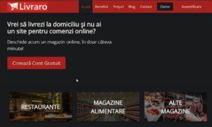 Platforma de generare a unui magazin online Livraro.com