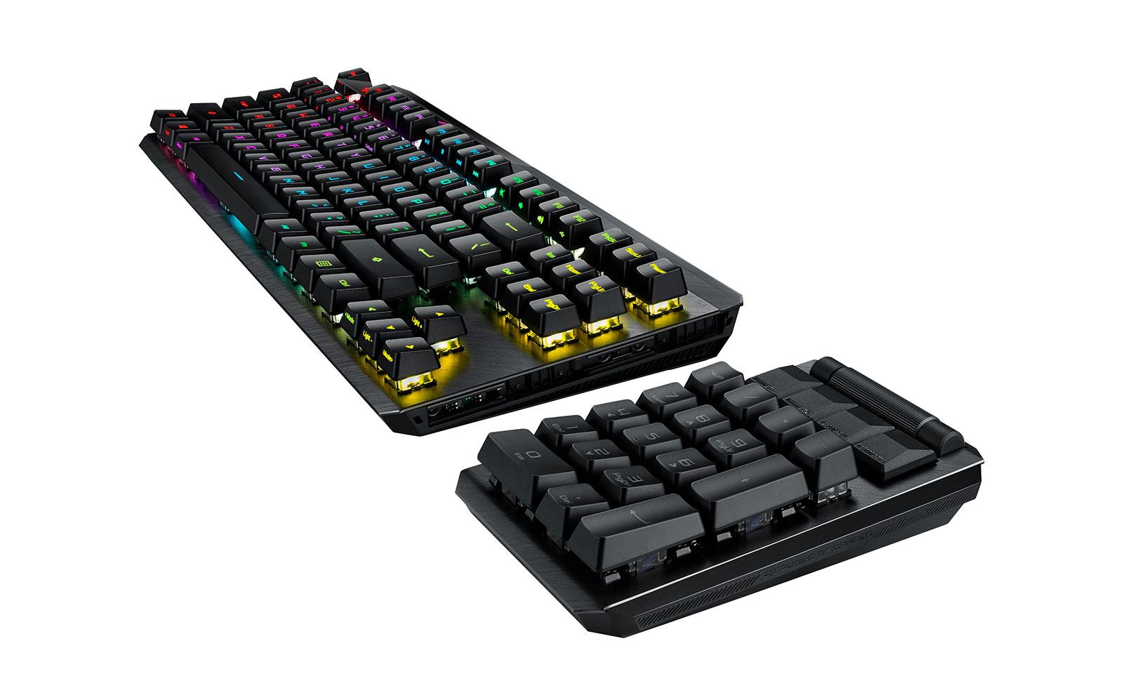 Tastatura de gaming Claymore II cu numpad detașabil