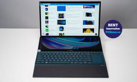 Laptop ZenBook Pro Duo 15 (UX582) cu ecran 4K și ScreenPad Plus
