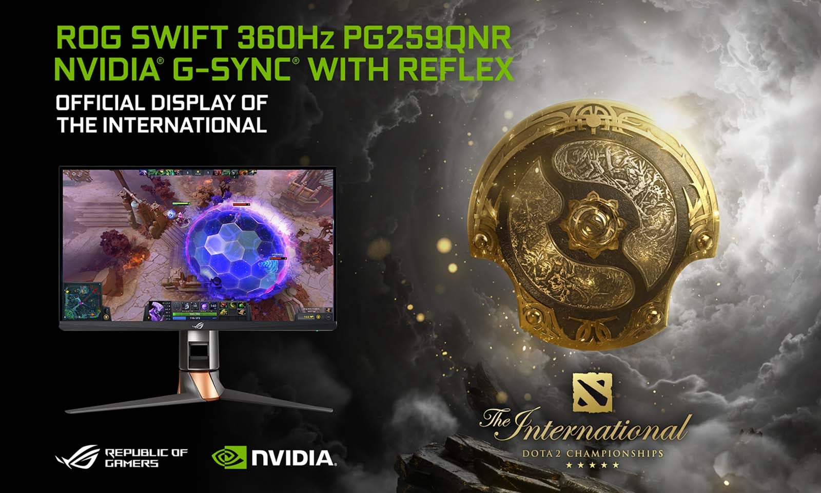 ASUS ROG Swift 360 Hz Official Display of DOTA 2 The International 10 Tournament